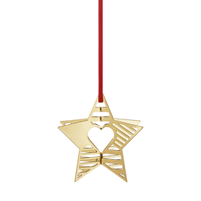 2019 Holiday Ornament, Star - gold plated | Georg Jensen