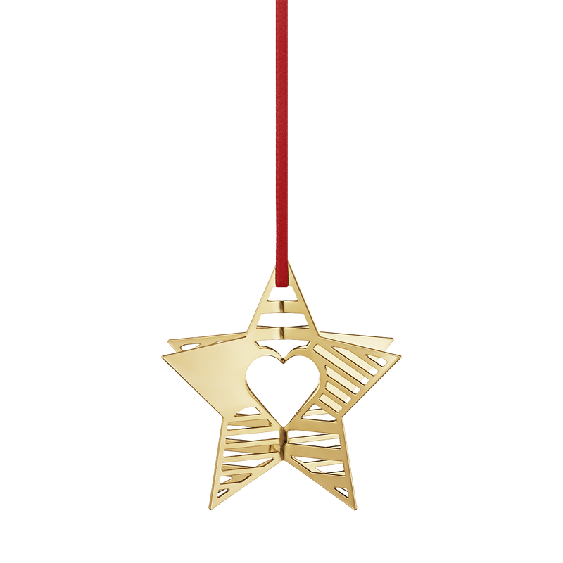 2019 Holiday Ornament Star Gold Plated