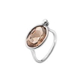 SAVANNAH ring - sterling silver with smokey quartz, medium