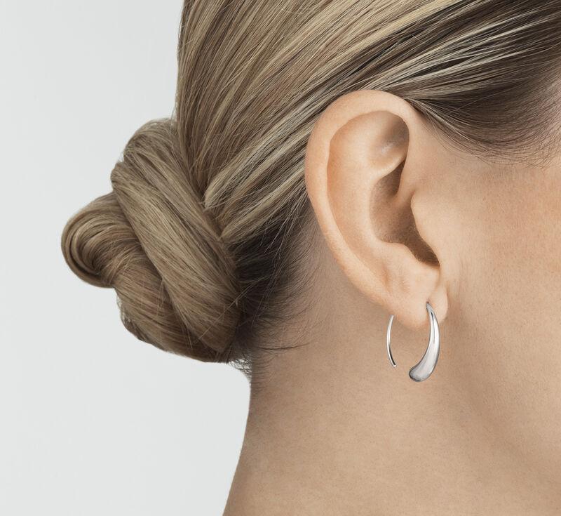 69a8e3343 MERCY large sterling silver hoop earrings | Georg Jensen