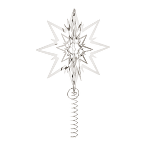 STAR for the Christmas tree, large, palladium plated
