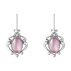 2019 HERITAGE earrings - sterling silver with lilac quartz