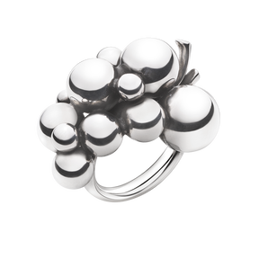 MOONLIGHT GRAPES ring - sterling silver, stor