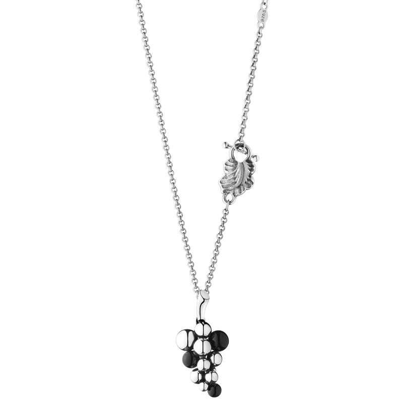 MOONLIGHT GRAPES pendant - sterling silver with black onyx, small