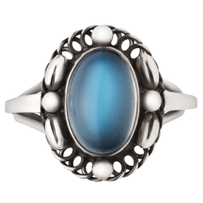 MOONLIGHT BLOSSOM ring - sterling silver with moonstone