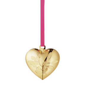 2015 Annual Christmas Heart, gold plated
