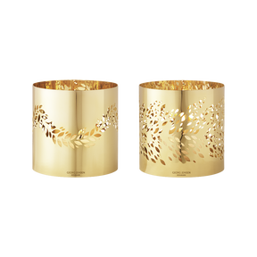 2016 Tealight set Magnolia, gold plated