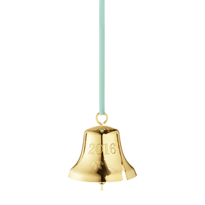 2016 Christmas Bell, gold plated