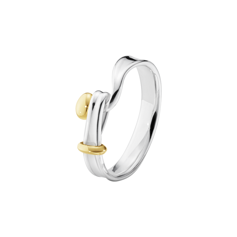 TORUN ring - sterling silver and 18 kt. yellow gold
