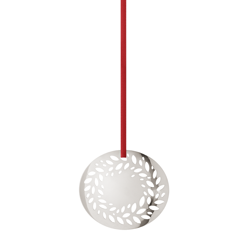 2016 Holiday Ornament Solid Wreath, palladium plated