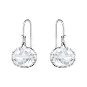 SAVANNAH earrings - sterling silver with rock crystal