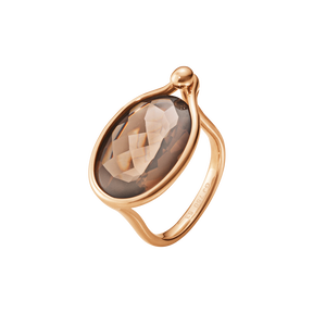 SAVANNAH ring - 18 kt. rose gold with smokey quartz