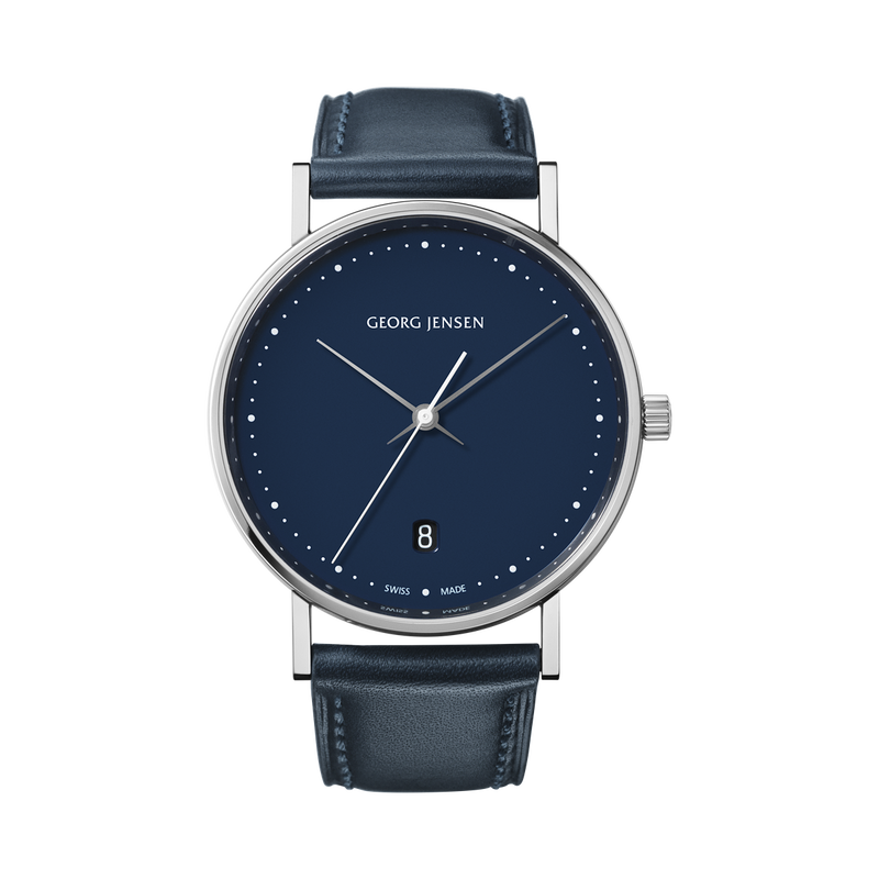 <p>KOPPEL - 38 mm, Quartz, blue dial, blue leather strap<br /><br /></p>