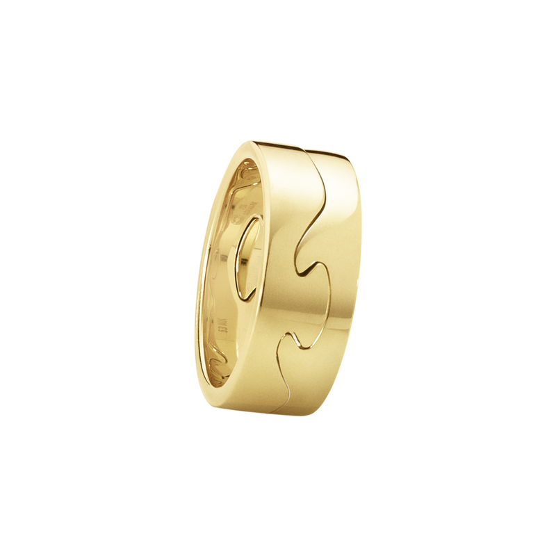 FUSION 2-piece ring -18 kt. yellow gold