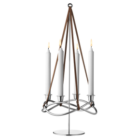 SEASON set - candleholder and extension, stainless steel