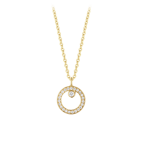 HALO pendant - 18 kt. gold with brilliant cut diamonds