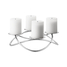 SEASON candleholder, large, stainless steel