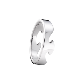 FUSION end ring - 18 kt. white gold