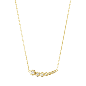 AURORA pendant - 18 kt. yellow gold with brilliant cut diamonds