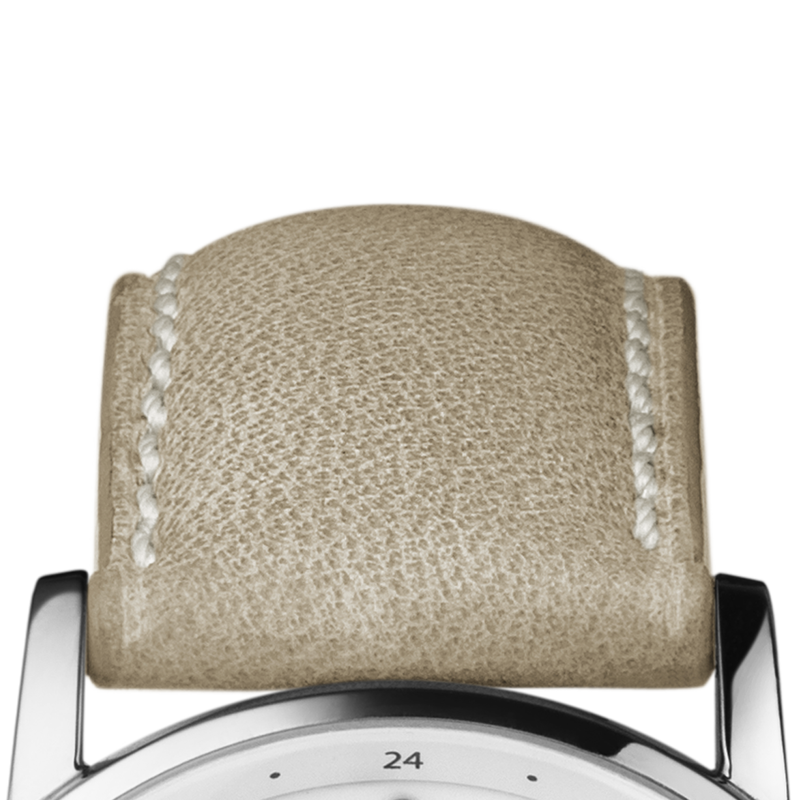 KOPPEL Strap - 22mm / 0.87in, Beige Calfskin, Medium