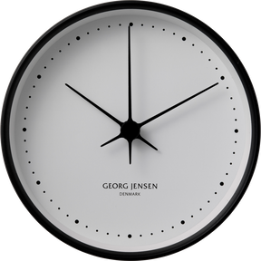 KOPPEL 15 cm wall clock, stainless steel black with white dial