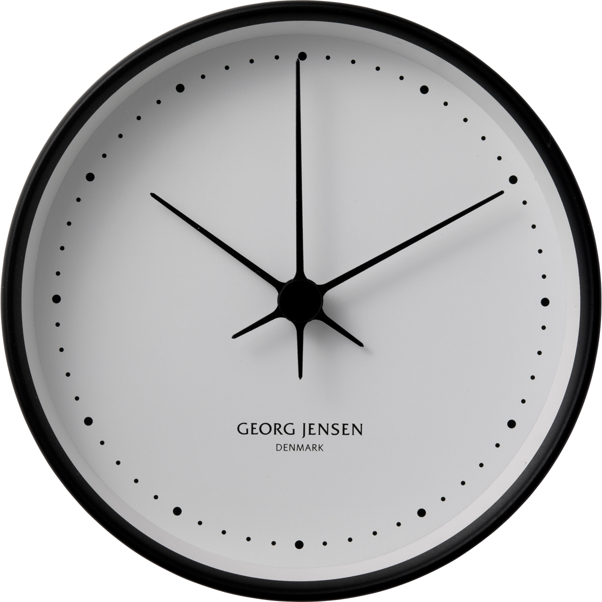 KOPPEL 22 cm wall clock black stainless steel with white dial