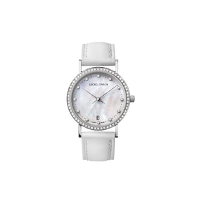 KOPPEL - 32mm, Quartz, white MOP dial with diamond bezel