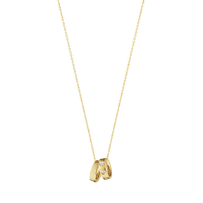 MAGIC charm pendant, yellow gold with 7 diamonds 0.10 CT