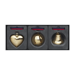 2017 Heart, Bell, Ball gift set, gold plated