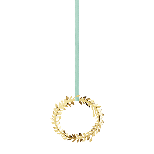 2016 Holiday Ornament Wreath, gold plated
