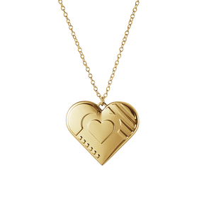 2019 Christmas ornament, Heart - Gold plated | Georg Jensen
