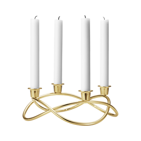 SEASON candleholder, gold plated