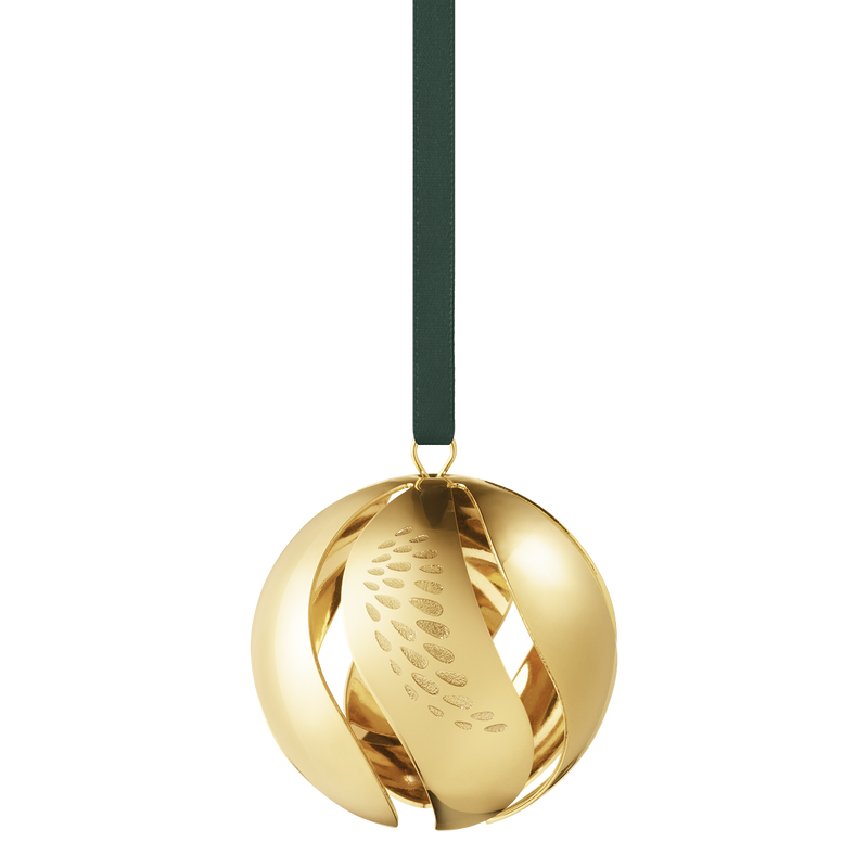 2018 Christmas Ball - gold plated