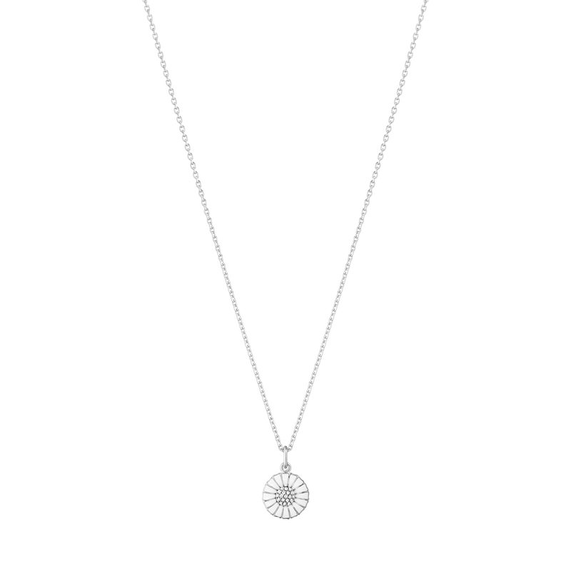 DAISY pendant - rhodium plated sterling silver with diamonds