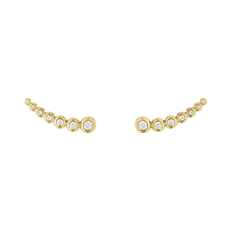 AURORA earrings - 18 kt. yellow gold with brilliant cut diamonds