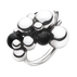 MOONLIGHT GRAPES ring - sterling silver with black onyx, large