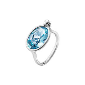 SAVANNAH ring - sterling silver with blue topaz, medium