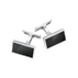 MEN'S CLASSIC cufflinks - sterling silver with black onyx