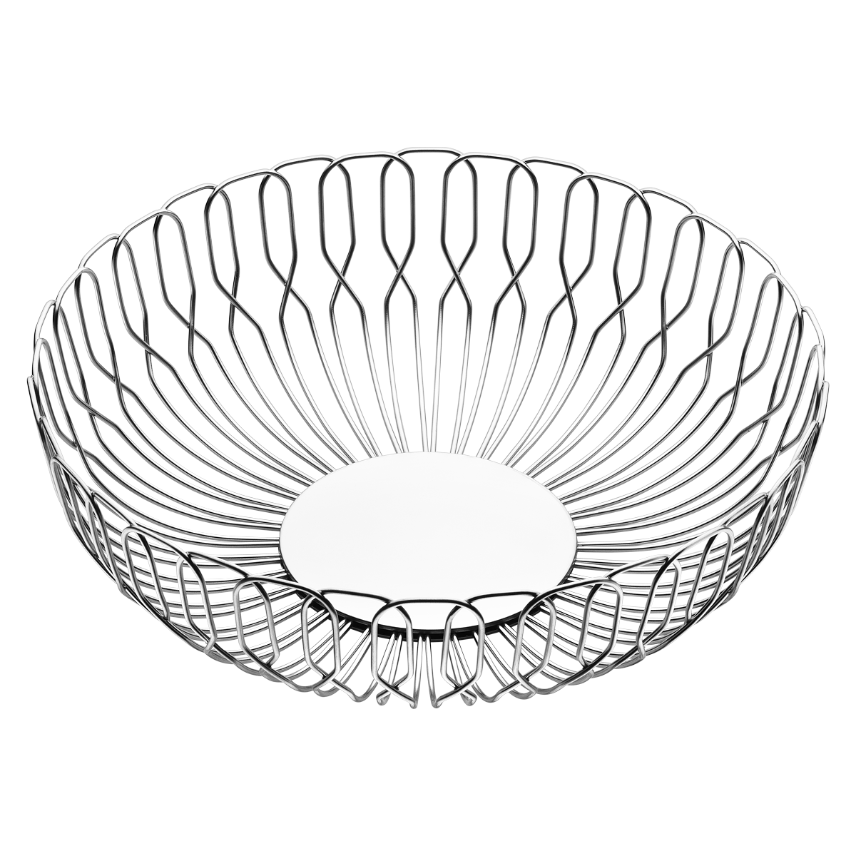 Alfredo Wire Form Bread Basket In Stainless Steel