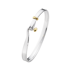 TORUN bangle - sterling silver and 18 kt. yellow gold