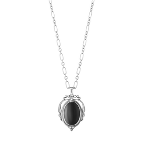 HERITAGE pendant - oxidised sterling silver with black onyx alt
