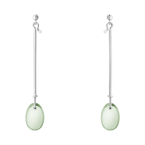 DEW DROP earrings - sterling silver with prasiolite