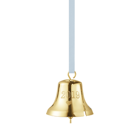 2019 Christmas Bell decoration - Gold plated| Georg Jensen