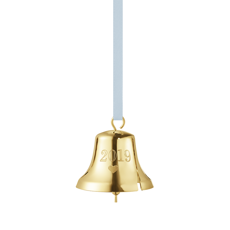 2019 Christmas Bell decoration - Gold plated