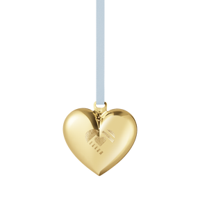2019 Christmas Heart decoration - Gold plated| Georg Jensen