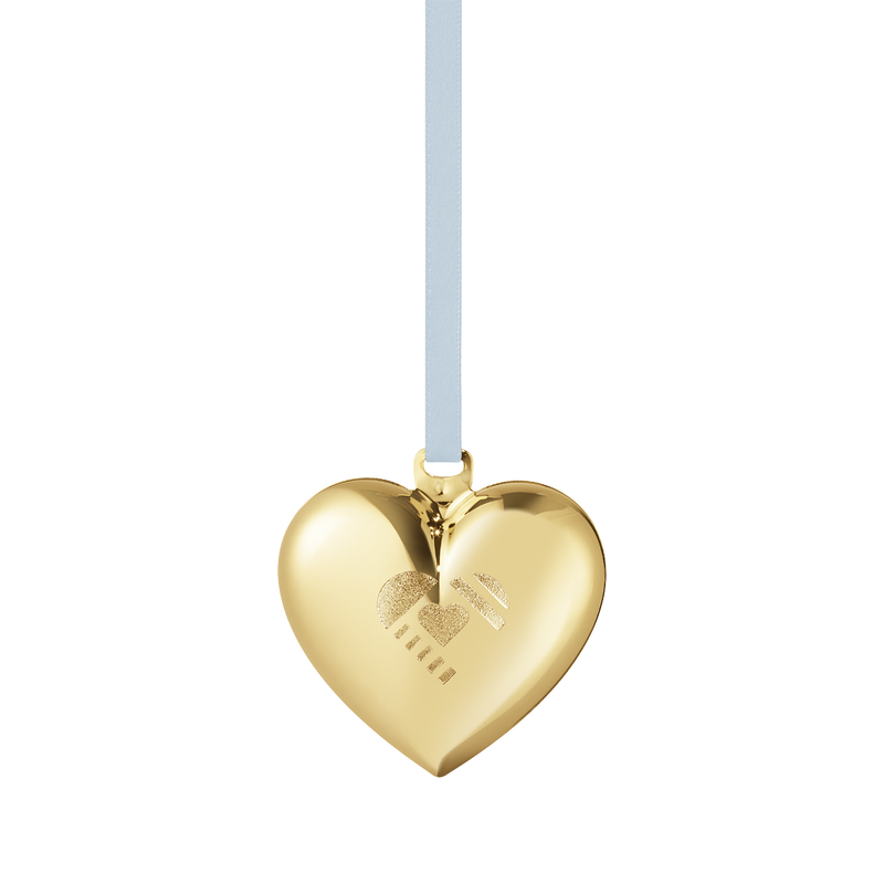 2019 Christmas Heart decoration - Gold plated