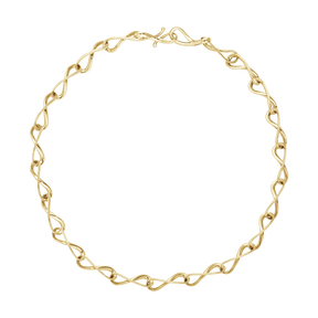 INFINITY necklace - 18 kt. yellow gold with brilliant cut diamonds