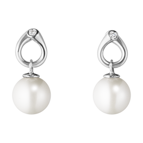 MAGIC earrings - 18 kt. white gold with pearls and diamonds