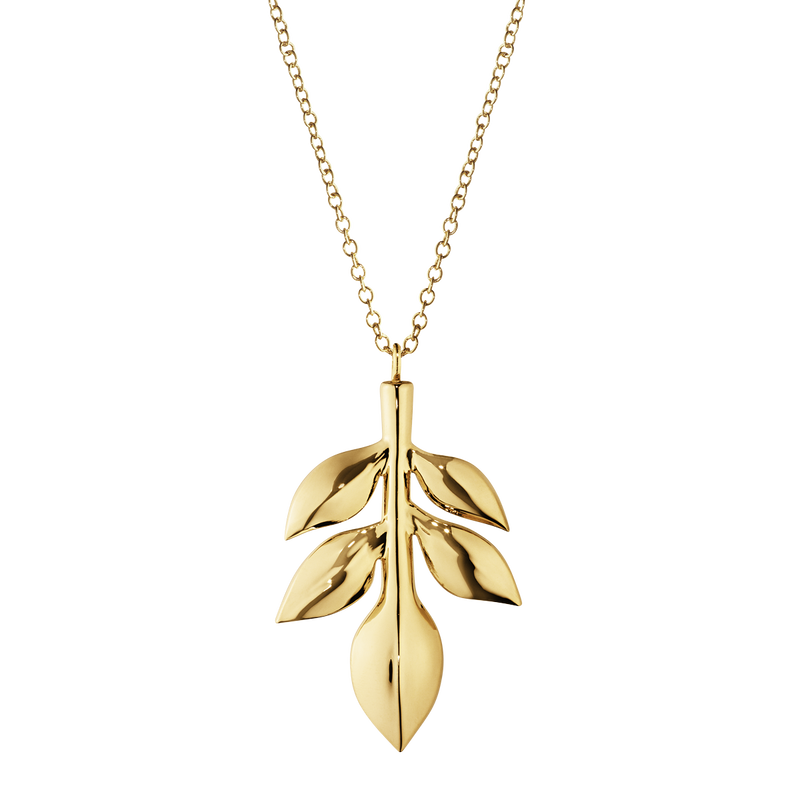 2016 Ornament Magnolia Leaf, gold plated