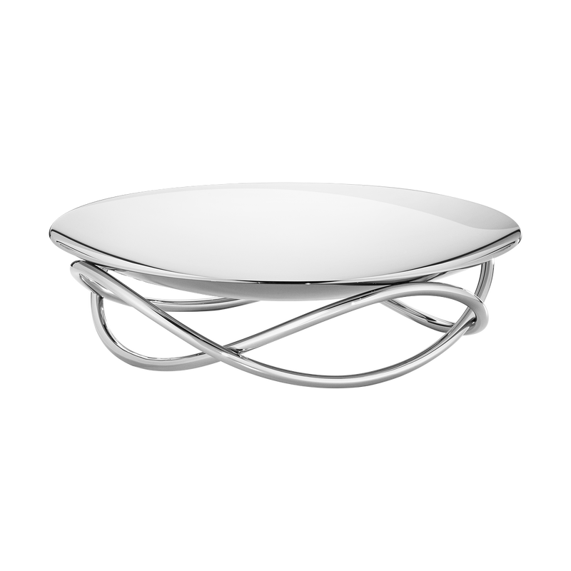 GLOW dish, large, stainless steel